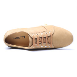 Yellow Chamois Leather Elevator Shoes CORNELIO +2,76
