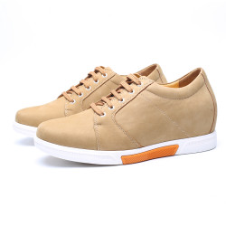 Yellow Chamois Leather Shoes