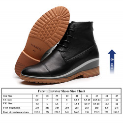 Increasing Cow Leather Elevator Shoes