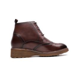 Brown elevator moc boot