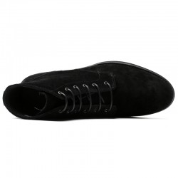 Black Suede Leather Elevator Shoes LUCA +2,36 inches