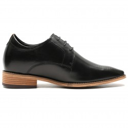Black height increasing shoes