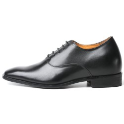 Elegant, black elevator shoes 2,76 inches
