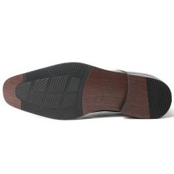 All-black elevator shoes Dionigi 2,76 inches