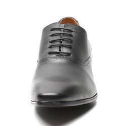 black snakeskin pattern elevator shoes