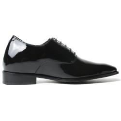 Patent leather elevator shoes 2,76 inches