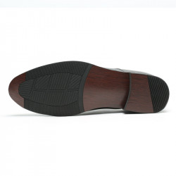 Plain black height increasing shoes 7cm
