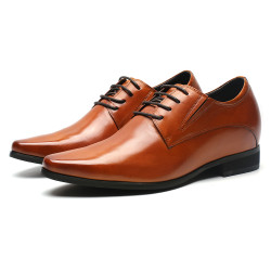 Brown Elevator Shoes - natural leather