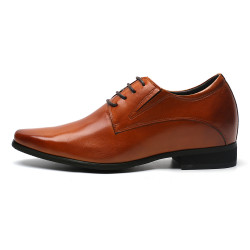 elevator shoes brown