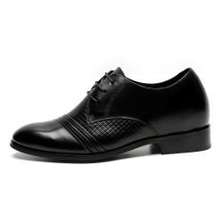 Elegant all-black elevator shoes Ivo