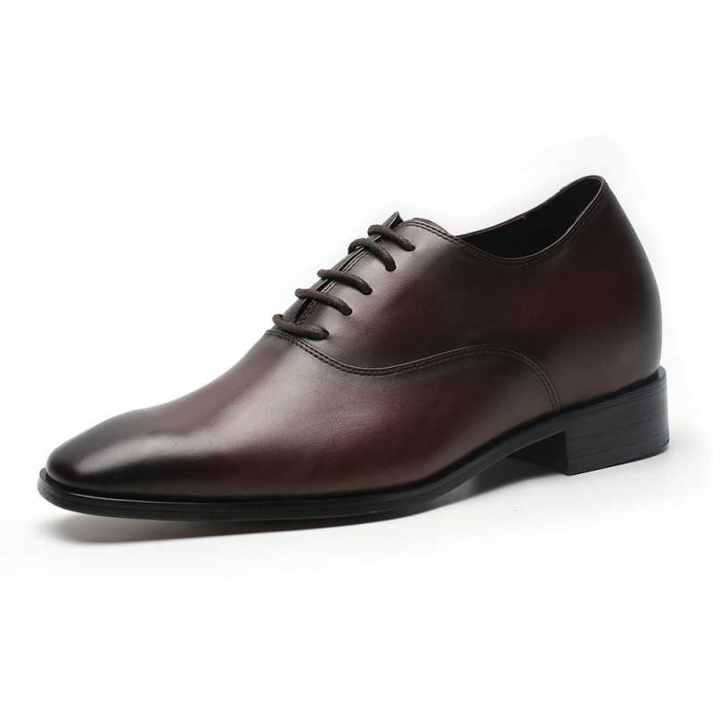 Dark brown elevator shoes
