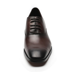 Dark brown elevator shoes Paolo +2,76 inches