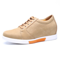 Yellow Chamois Leather Elevator Shoes
